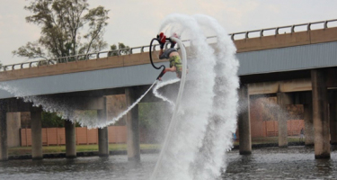 Flyboarding in the Vaal River by Watersport Unlimited